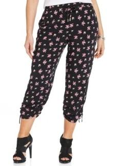 Style & co. Plus Size Floral-Print Soft Capri Pants