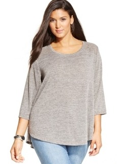 Style & co. Plus Size Lace-Back Swing Top