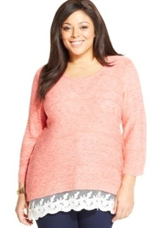 Style & co. Plus Size Lace-Trim Sweater