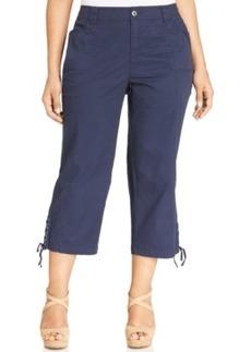 Style & co. Plus Size Lace-Up-Hem Capris