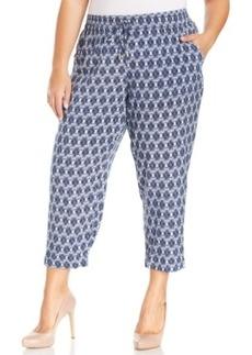 Style & co. Plus Size Printed Soft Capri Pants