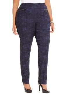 Style & co. Plus Size Printed Zip-Pocket Skinny Pants, Only at Macy's