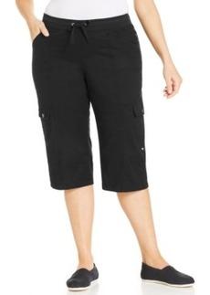 Style & co. Plus Size Roll-Tab Cargo Capri Pants