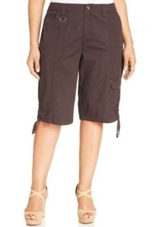Style & co. Plus Size Ruched-Hem Relaxed Cargo Shorts