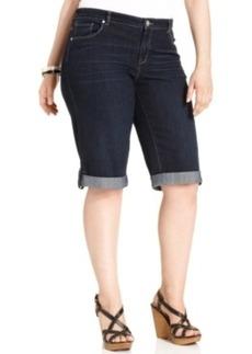 Style & co. Plus Size Shorts, Cuffed Denim, Caneel Wash