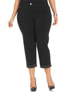 Style & co. Plus Size Studded-Cuff Capri Pants