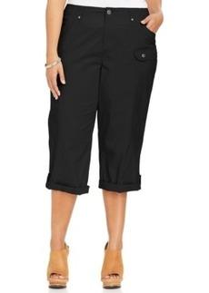 Style & co. Plus Size Tab-Cuff Capri Pants
