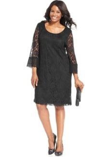 Style & co. Plus Size Three-Quarter-Sleeve Lace Dress