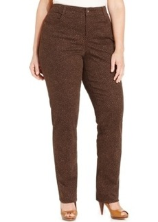Style & co. Plus Size Tummy-Control Animal-Print Jeans, Only at Macy's