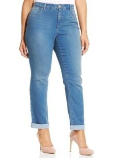Style & co. Plus Size Tummy Control Ankle Jeans, Mercury Wash