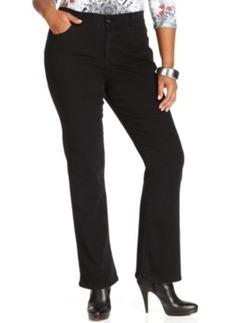 Style & co. Plus Size Tummy Control Bootcut Jeans, Noir Wash