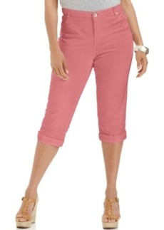Style & co. Plus Size Tummy-Control Capri Jeans