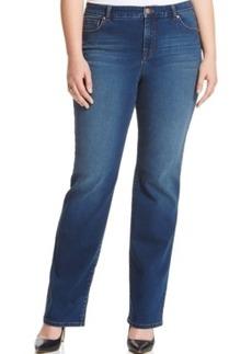 Style & co. Plus Size Tummy-Control Rhinestone Straight-Leg Jeans, Astor Wash