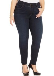 Style & co. Plus Size Tummy-Control Skinny Jeans, Ravine Wash