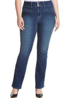 Style & co. Plus Size Tummy-Control Slim Bootcut Jeans, Truce Wash