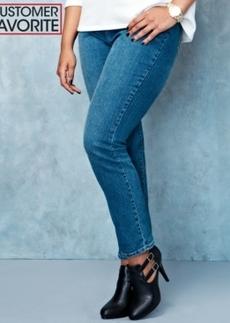 Style & co. Plus Size Tummy Control Slim-Leg Jeans, Faith Wash