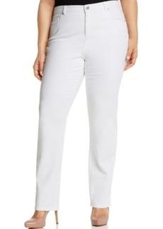 Style & co. Plus Size Tummy-Control Straight-Leg Jeans