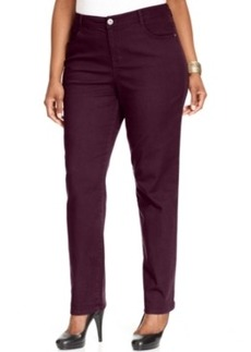 Style & co. Plus Size Tummy-Slimming Colored Straight-Leg Jeans