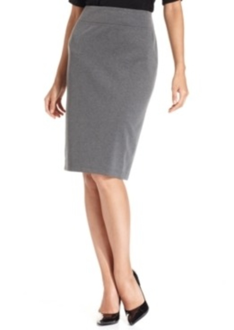 style co style co pull on ponte knit pencil skirt