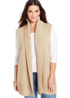 Style & co. Shawl-Collar Open Sweater Vest, Only at Macy's