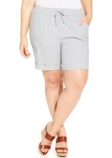 Style & co. Sport Plus Size Drawstring-Waist Cargo Shorts