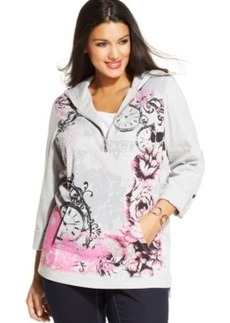 Style & co. Sport Plus Size Layered-Look Graphic Hoodie