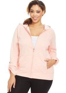 Style & co. Sport Plus Size Raglan-Sleeve Zip-Up Hoodie