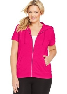 Style & co. Sport Plus Size Short-Sleeve Hoodie
