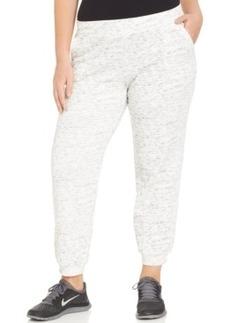 Style & co. Sport Plus Size Space-Dye Jogger Sweatpants