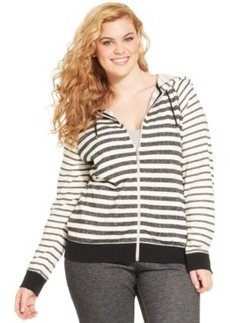 Style & co. Sport Plus Size Striped Zip-Up Hoodie