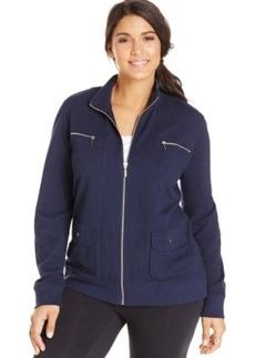 Style & co. Sport Plus Size Zip-Pocket Sweatshirt Jacket