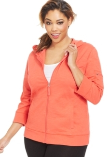 Style & co. Sport Plus Size Zip-Up Hoodie