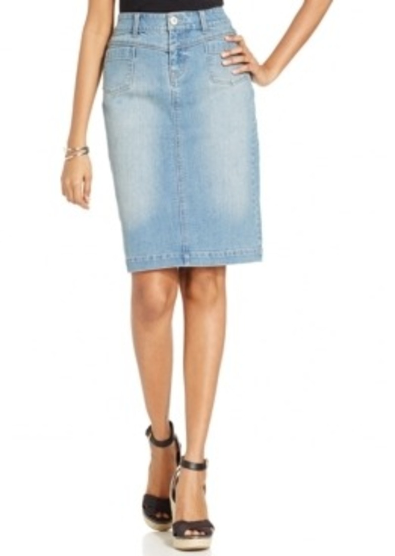 style co style co tummy slimming denim pencil skirt