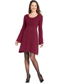 Style&co. Bell-Sleeve Babydoll Sweater Dress
