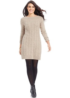 Style&co. Boat-Neck Cable-Knit Sweater Dress