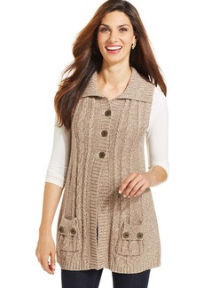 Style&co. Button-Front Cable-Knit Sweater Vest
