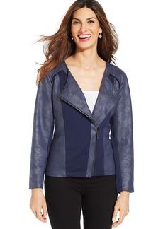 Style&co. Coated Asymmetrical Moto Jacket