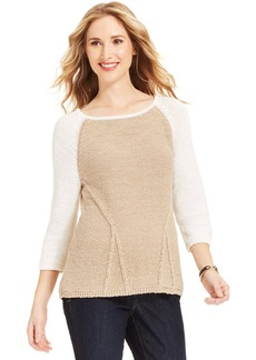 Style&co. Colorblock High-Low Sweater