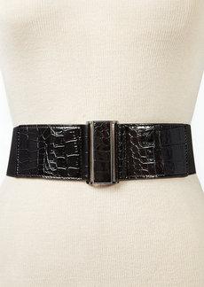 Style&co. Croco Patent Stretch Belt