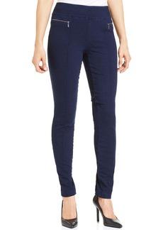 Style&co. Petite Exposed-Zipper Pull-On Leggings