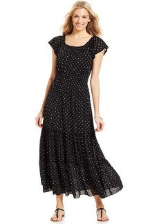 Style&co. Flutter-Sleeve Peasant Maxi Dress