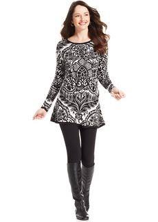 Style&co. Jacquard Long-Sleeve Tunic