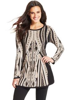 Style&co. Jacquard Tunic Sweater