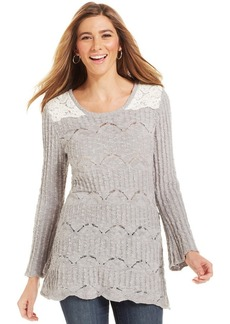 Style&co. Lace Pointelle Tunic