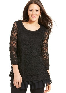 Style&co. Lace Tiered-Hem Tunic