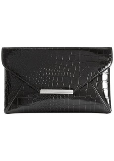 Style&co. Lily Croco Patent Envelope Clutch