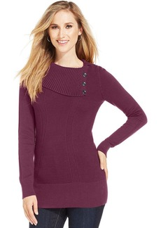 Style&co. Long-Sleeve Ribbed-Knit Sweater