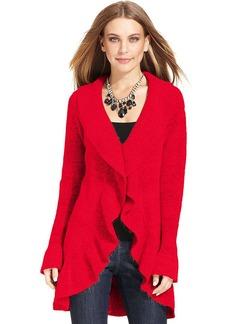 Style&co. Long-Sleeve Ruffled Cardigan
