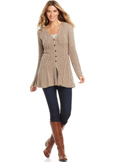Style&co. Marled Cable-Knit Cardigan