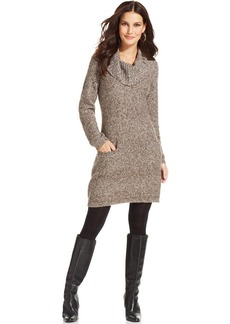 Style&co. Marled Ribbed-Knit Sweater Dress